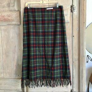 Vintage Pendleton Tartan Plaid Blanket Skirt 12